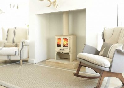 Charnwood-Island-I-Woodburning-Stove-Almond-store-stand-1024x682